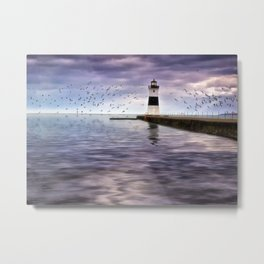 The Light on the Pier Metal Print
