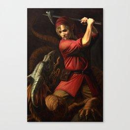 Battle in Death Mountain Canvas Print