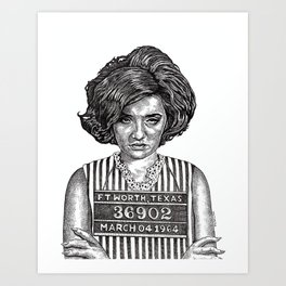 Big Hair Texas Trouble Art Print