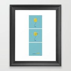 Teenage Balloon Framed Art Print