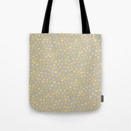 DOT PATTERN - gray and gold Tote Bag