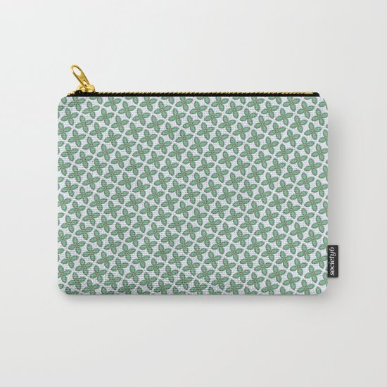 Mint Leaf Pattern Carry-All Pouch