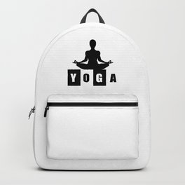 Yoga Logo trending art Design Backpack