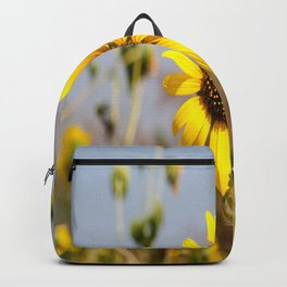 Sunflower - Bright Wildflower on a Summer Day Backpack