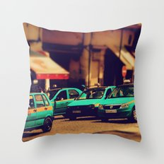 Moroccan taxi Throw Pillow