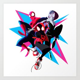 Spider-Man: Into The Spider-Verse Minimalist Art Print
