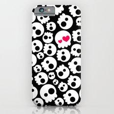 A skull in love iPhone 6 Slim Case