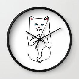 Nasty Cat Wall Clock