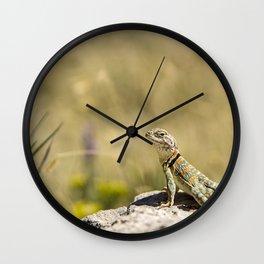 Lizard At Attention Wall Clock
