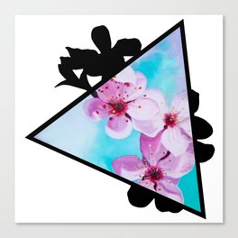 Apple Blossoms Triangle Canvas Print