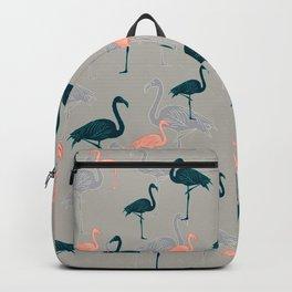 Tropical Gathering Flamingo Design Backpack