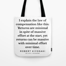23  |  Robert Kiyosaki Quotes | 190824 Tote Bag