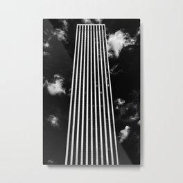 Silver Stripes Metal Print