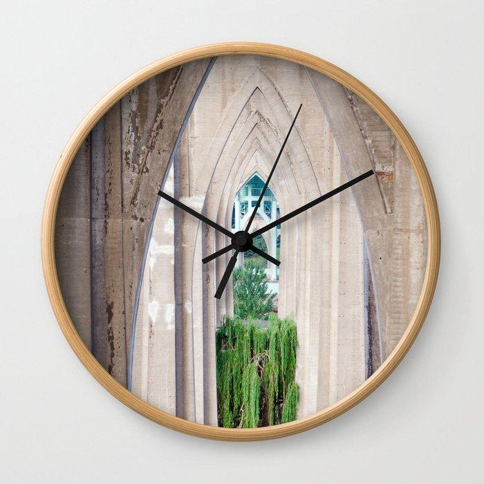 Cathedral Park Portland Wall Clock