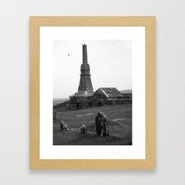 Irish Graveyard, Rock of Cashel Framed Art Print