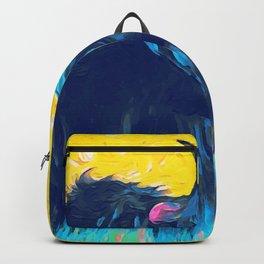 Horny (blue) Backpack