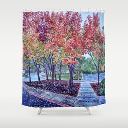Late Autumn in Northern California Shower Curtain