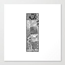 Cutout Letter I Canvas Print
