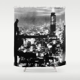 Late night construction in NYC Shower Curtain