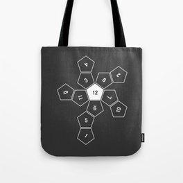 Grey Unrolled D12 Tote Bag