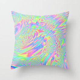 Rainbow Fuster Cluck Throw Pillow