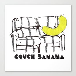 Couch Banana Canvas Print