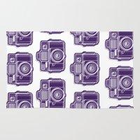 I Still Shoot Film Holga Logo - Deep Purple Rug
