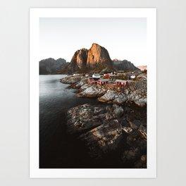 Fisherman Village, Lofoten Islands, Norway Art Print