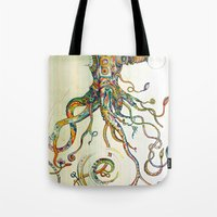 monika strigel Tote Bags featuring The Impossible Specimen by Will Santino