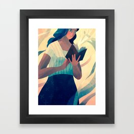 Reading a Book Framed Art Print