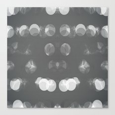 Grey Bubbles Canvas Print