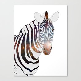 Galactic Zebra Canvas Print