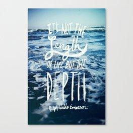 Depth x Ocean Canvas Print