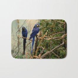 Blue Parrots Bath Mat