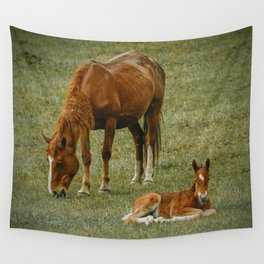 Horse And Foal Wall Tapestry