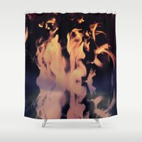 libra Shower Curtains featuring LIBRA by talon wolf
