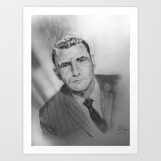 Rod Serling portrait Art Print