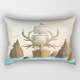 The Antlered Ship - Jacket Rectangular Pillow