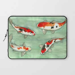La ronde des carpes koi Laptop Sleeve