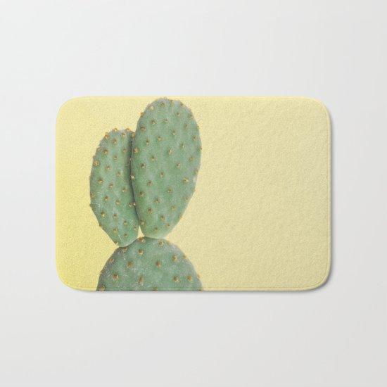 Yellow Cactus Bath Mat