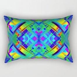 Colorful digital art splashing G476 Rectangular Pillow
