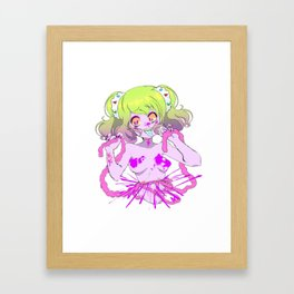 Guro Girl - Splatter CENSORED Framed Art Print