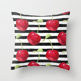 Cherry pattern Throw Pillow