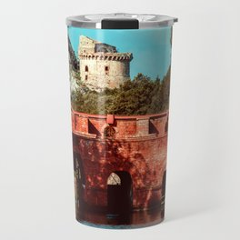 Ponte Rosso: a bridge over a canal running to the sea Travel Mug