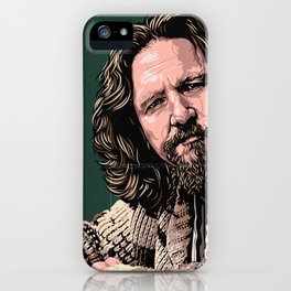 The Dude by STENZSKULL iPhone Case