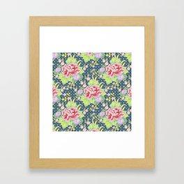 Kimono Bouquet Brocade Framed Art Print