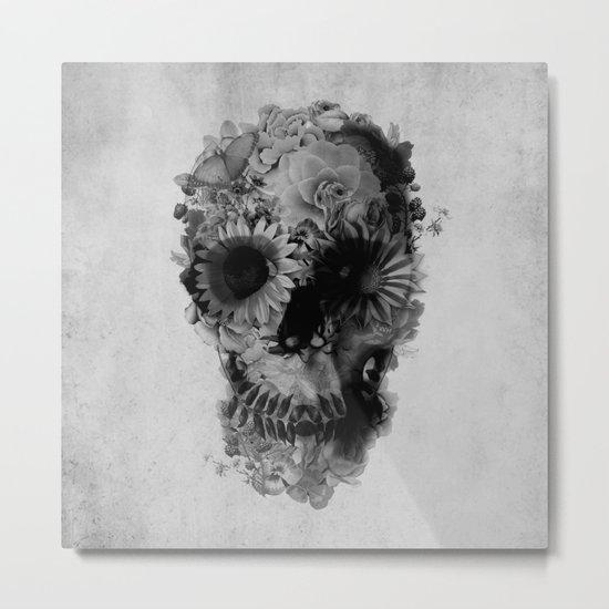 Skull 2 / BW Metal Print