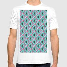 jfivetwenty tessellation  White Mens Fitted Tee MEDIUM