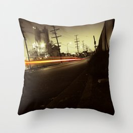 Night ride Throw Pillow