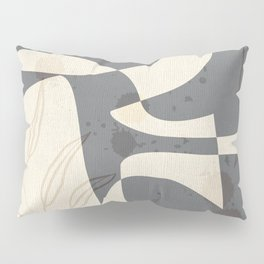Abstract - Vase Shapes in Dove Grey Pillow Sham